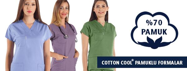 Cotton Cool® Yüksek Pamuklu Hemşire ve Doktor Formaları