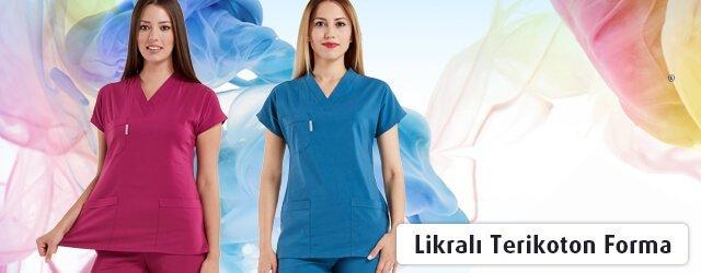 kadın likralı terikoton cerrahi formalar
