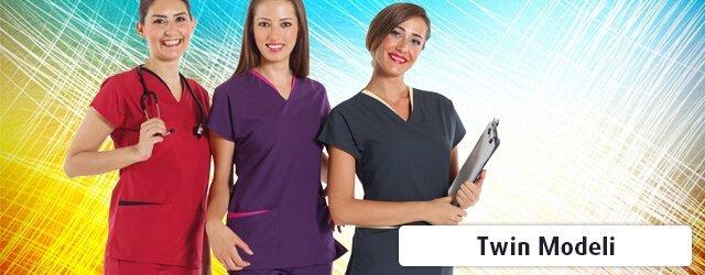 twin modeli doktor ve hemşire formaları