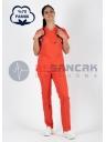 Oranj Pamuklu Doktor ve Hemşire Forması