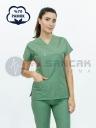 Zeytin Yeşili Pamuklu Doktor ve Hemşire Forması