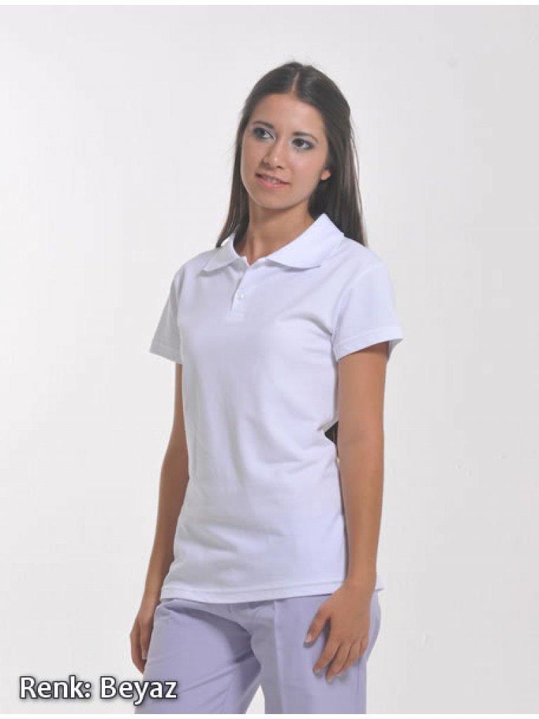 Kadın Polo Yaka Beyaz Lacoste T-shirt