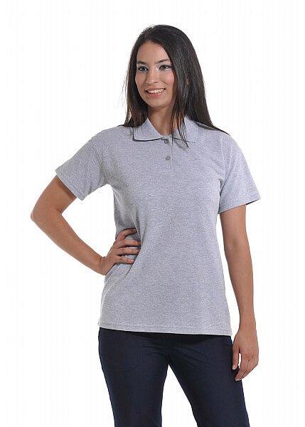 Gri Kadın Polo Yaka Lacoste T-shirt