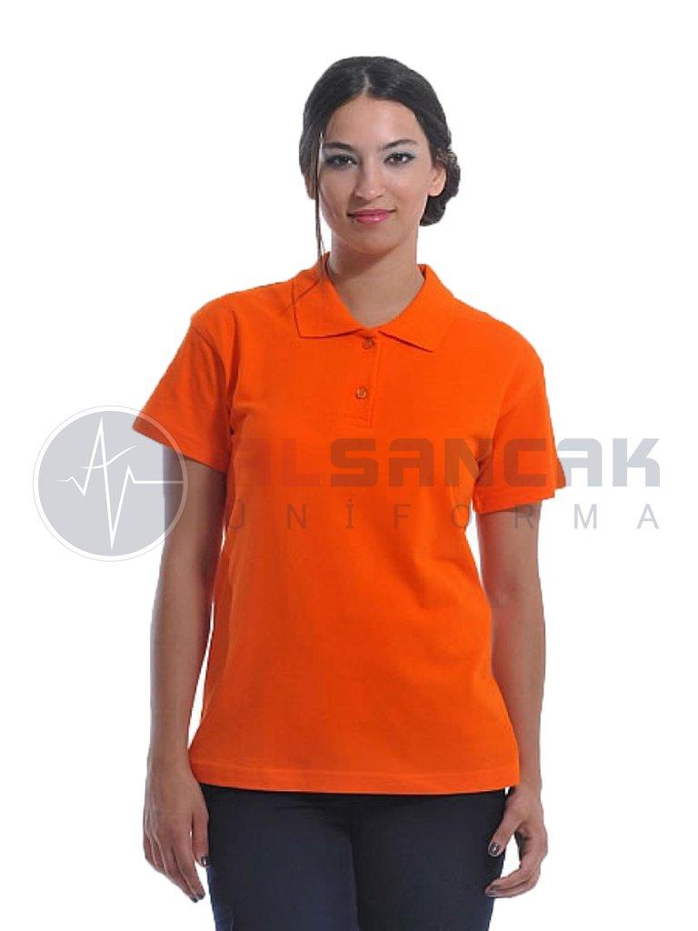 Kadın Polo Yaka Turuncu Lacoste T-shirt