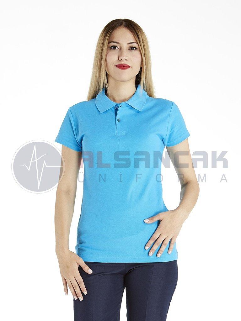 Kadın Polo Yaka Turkuaz Lacoste T-shirt