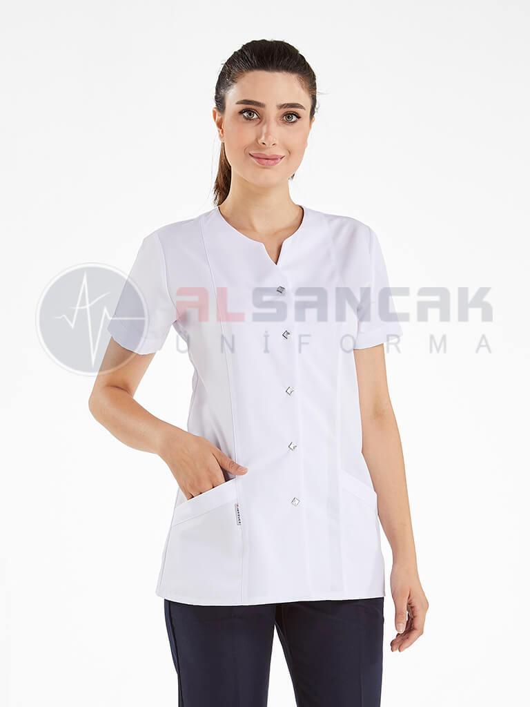 Blanca Beyaz/Lacivert Kombini Doktor ve Hemşire Forması Takımı