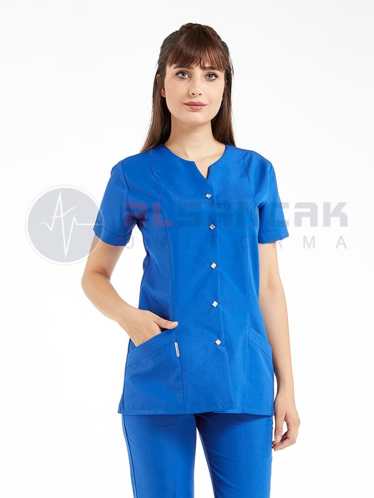 Blanca Saks Mavi Doktor ve Hemşire Forması Takımı
