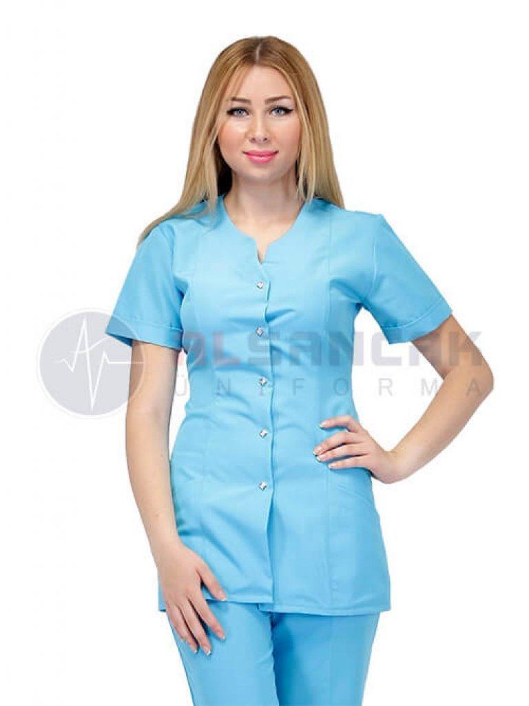 Blanca Turkuaz Doktor ve Hemşire Forması Takımı