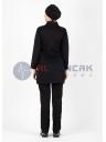 Tesettür Luxe Model Siyah Hemşire ve Doktor Forması Takımı