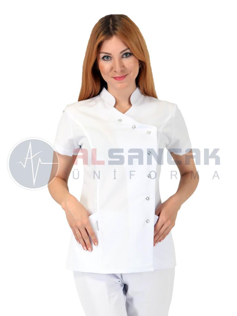 Luxe Model Beyaz Hemşire ve Doktor Ceketi