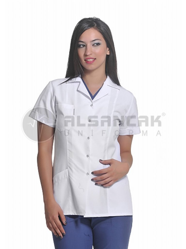 Spor Yaka Fit Kesim Hemşire Ceketi