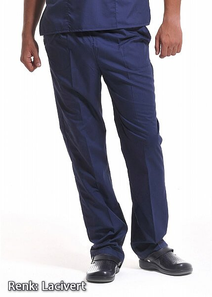 Alpaka Lacivert Lastikli Aşçı Pantolonu