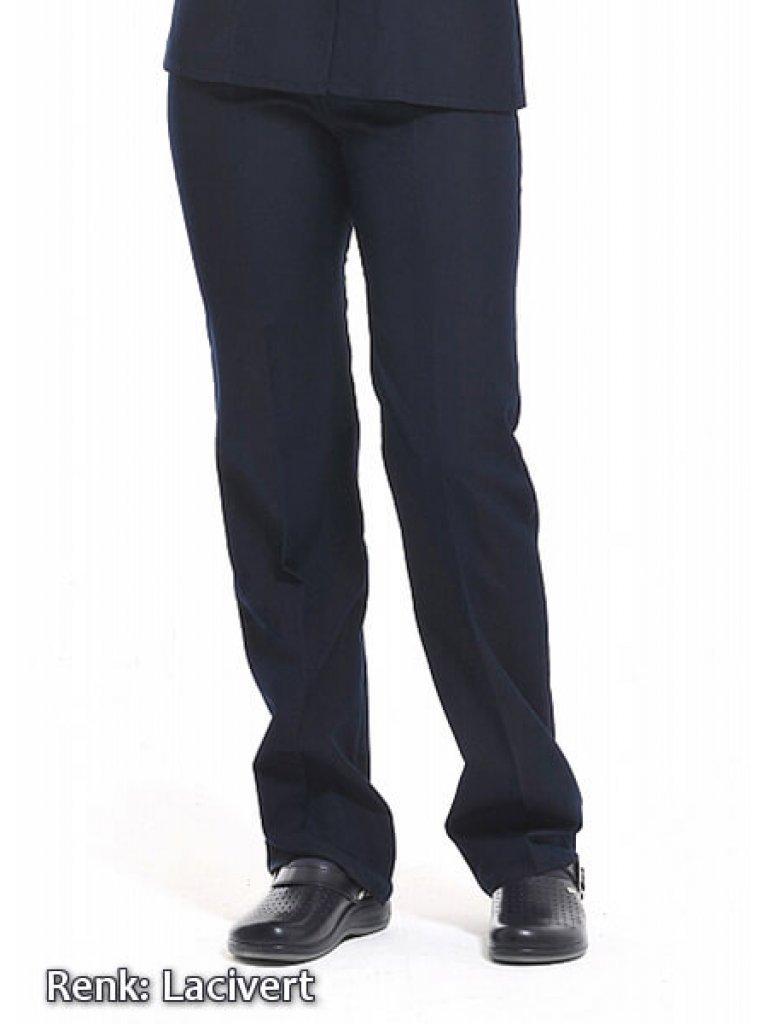 Kadın Alpaka Lacivert Lastikli Aşçı Pantolonu