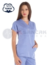 Açık Mavi Pamuklu Doktor ve Hemşire Forması