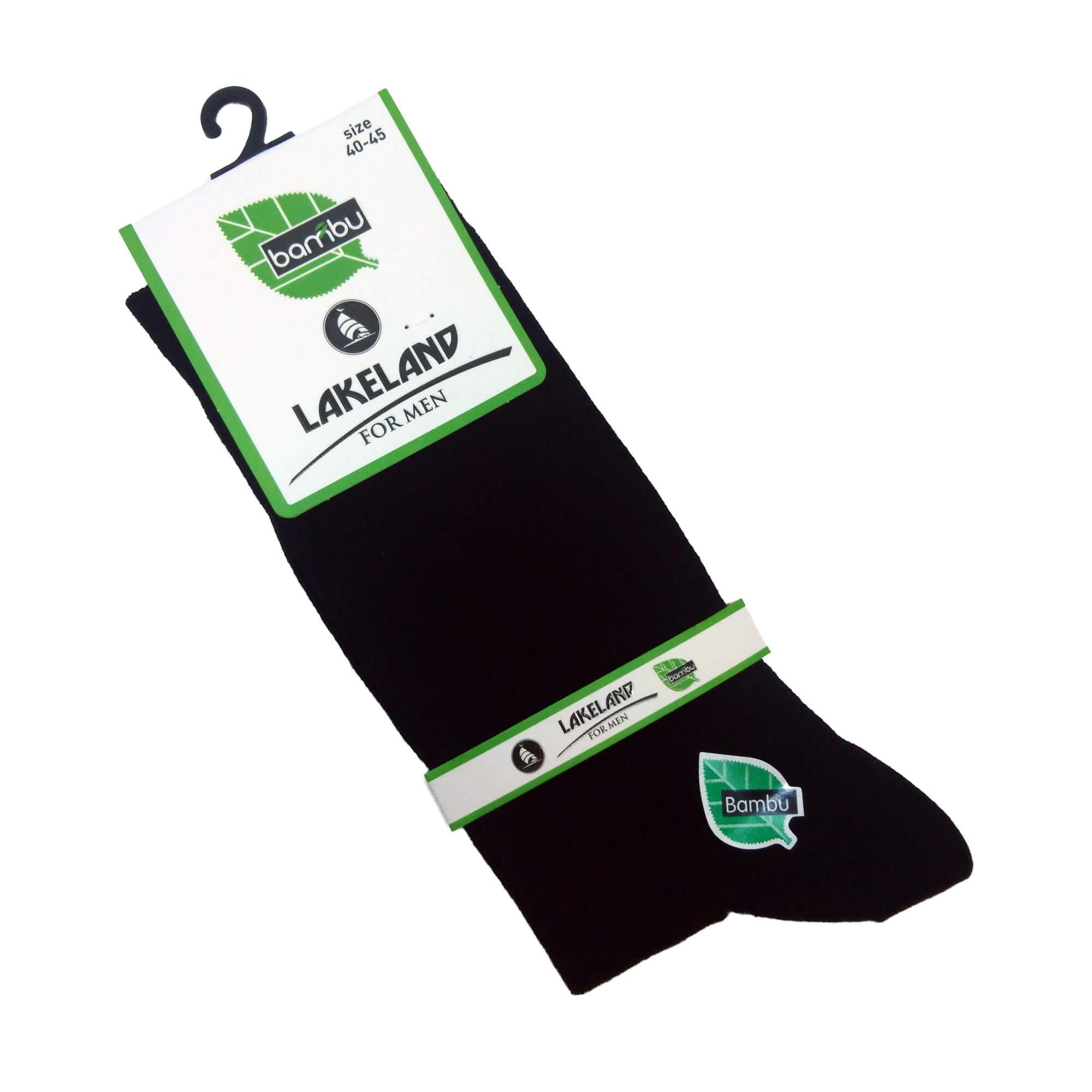 Erkek Siyah Bambu Çorap
