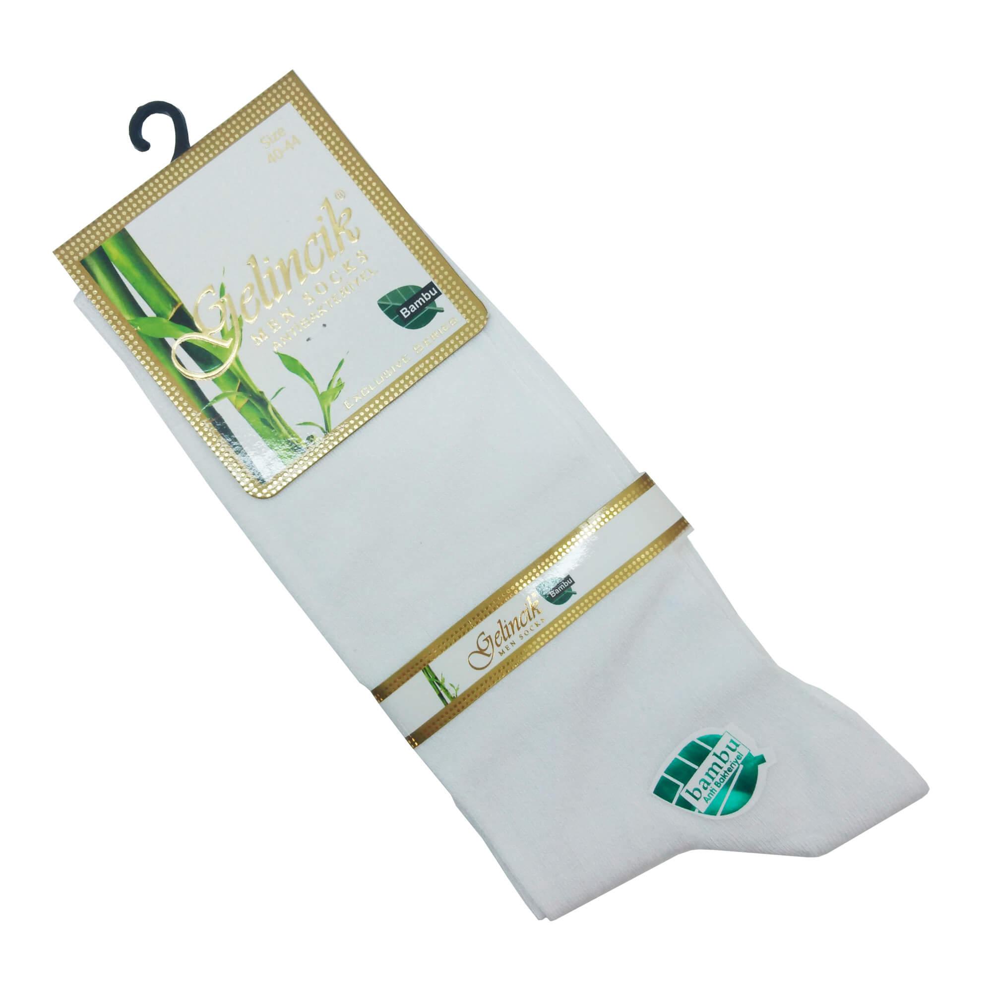 Erkek Beyaz Bambu Çorap
