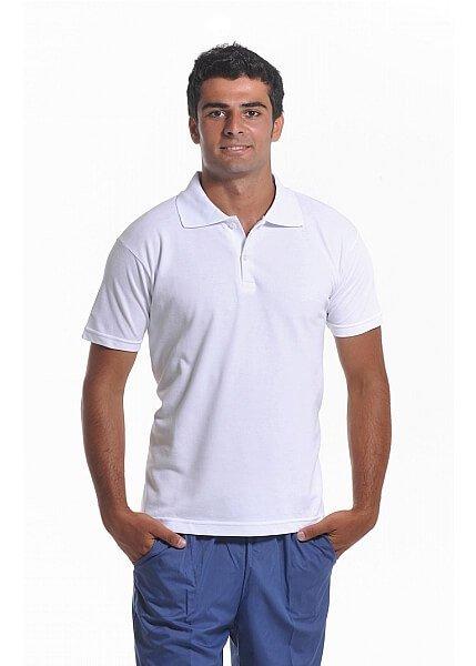 Beyaz Erkek Polo Yaka Lacoste T-Shirt