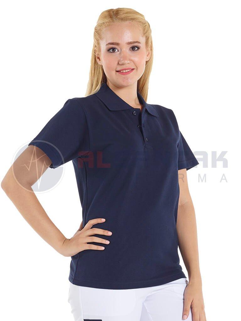 Lacivert Kadın Polo Yaka Lacoste T-shirt