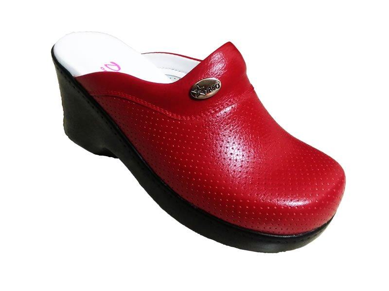 Kırmızı Topuklu Sabo Terlik