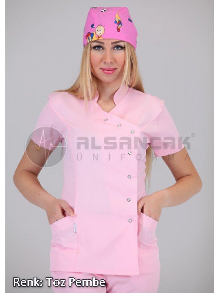 Yandan Çıtçıtlı Hemşire ve Doktor Ceketleri
